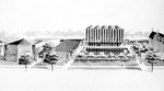 Laird Bell Law Quadrangle, Architectural Drawing by Eero Saarinen