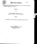Statement of the Honorable Edward H. Levi Attorney General of the United States before the Senate Select Committee on Intelligence Activities. 10:00 AM.  Thursday, December 11, 1975.  United States Senate. Washington, D.C.