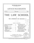 Law School Announcements 1903-1904 by Law School Announcements Editors