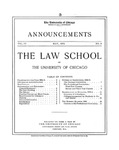 Law School Announcements 1904-1905