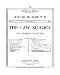 Law School Announcements 1904-1905 by Law School Announcements Editors