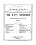 Law School Announcements 1905-1906