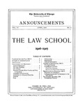 Law School Announcements 1906-1907