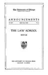 Law School Announcements 1925-1926