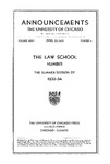 Law School Announcements 1933-1934