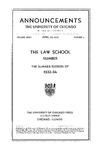 Law School Announcements 1933-1934