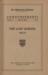Law School Announcements 1928-1929