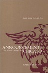 Law School Announcements 1983-1984 by Law School Announcements Editors