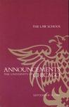 Law School Announcements 1984-1985