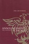 Law School Announcements 1986-1987 by Law School Announcements Editors