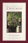 Law School Announcements 1998-1999 by Law School Announcements Editors