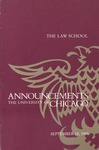 Law School Announcements 1988-1989 by Law School Announcements Editors