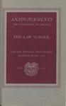 Law School Announcements  1940-1941