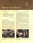 Law School Record, vol. 1, no. 1 (Fall 1951)