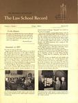 Law School Record, vol. 1, no. 1 (Fall 1951) by Law School Record Editors