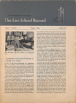 Law School Record, vol. 1, no. 2 (Winter 1952) by Law School Record Editors