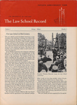 Law School Record, vol. 2. no. 1 (Summer 1952)