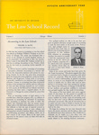 Law School Record, vol. 2, no. 2 (Summer 1953)