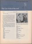 Law School Record, vol. 3 no. 1 (Fall 1953)