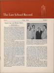 Law School Record, vol. 3 no. 3 (Summer 1954)