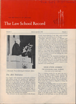 Law School Record, vol. 4, no. 1 (Fall 1954)
