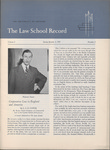 Law School Record, vol. 4. no. 3 (Spring 1955)