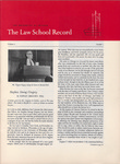 Law School Record, vol. 6, no. 1 (Winter 1957) by Law School Record Editors