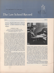 Law School Record, vol. 6, no. 3 (Summer 1957)