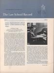Law School Record, vol. 6, no. 3 (Summer 1957) by Law School Record Editors