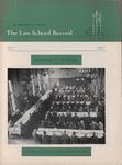 Law School Record, vol. 7, no. 1 (Fall 1957) by Law School Record Editors