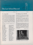 Law School Record, vol. 9. no. 1 (Spring 1960) by Law School Record Editors