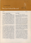 Law School Record, vol. 8, no. 2 (Summer 1959) by Law School Record Editors