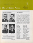 Law School Record, vol. 10, no. 1 (Summer 1962) by Law School Record Editors