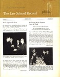 Law School Record, vol. 11, no. 2 (Spring 1963) by Law School Record Editors