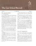 Law School Record, vol. 13, no. 2 (Fall 1965) by Law School Record Editors
