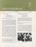 Law School Record, vol. 14, no. 1 (Winter 1966) by Law School Record Editors