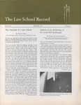 Law School Record, vol. 15, no. 1 (Winter 1967)