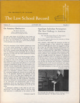 Law School Record, vol. 15, no. 2 (Autumn 1967) by Law School Record Editors
