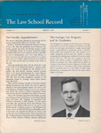 Law School Record, vol. 16, no. 1 (Spring 1968) by Law School Record Editors