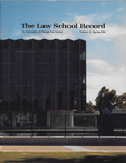 Law School Record, vol. 32, no. 1 (Spring 1986)