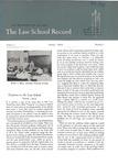 Law School Record, vol. 1 no. 3 (Spring 1952) by Law School Record Editors